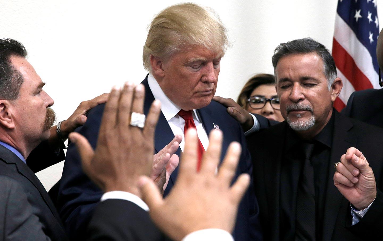 Donald Trump Prayer Circle