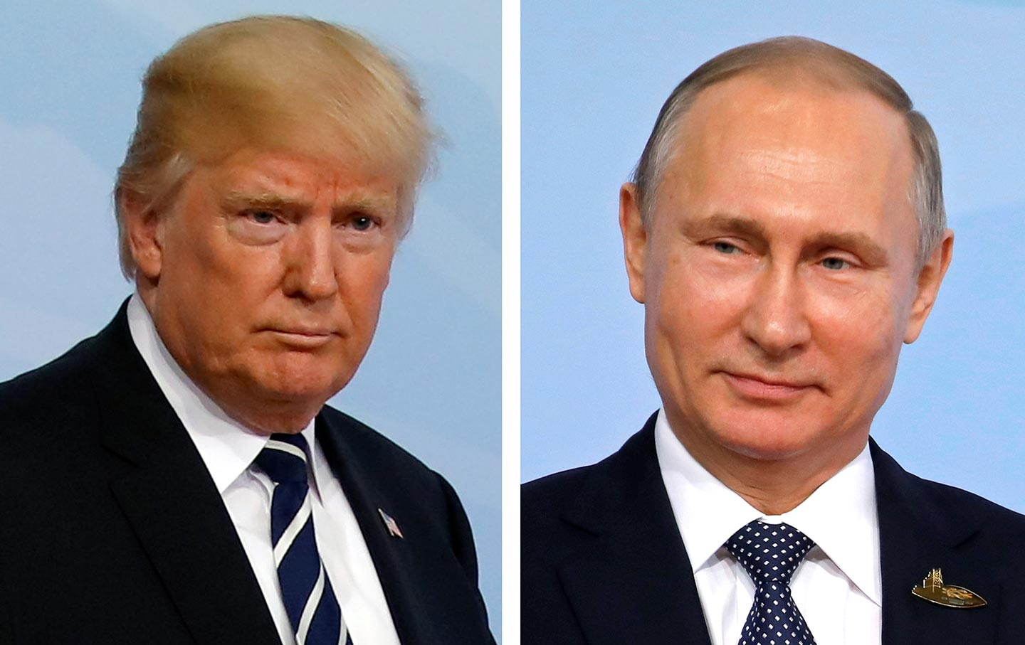 Trump and Putin side-by-side