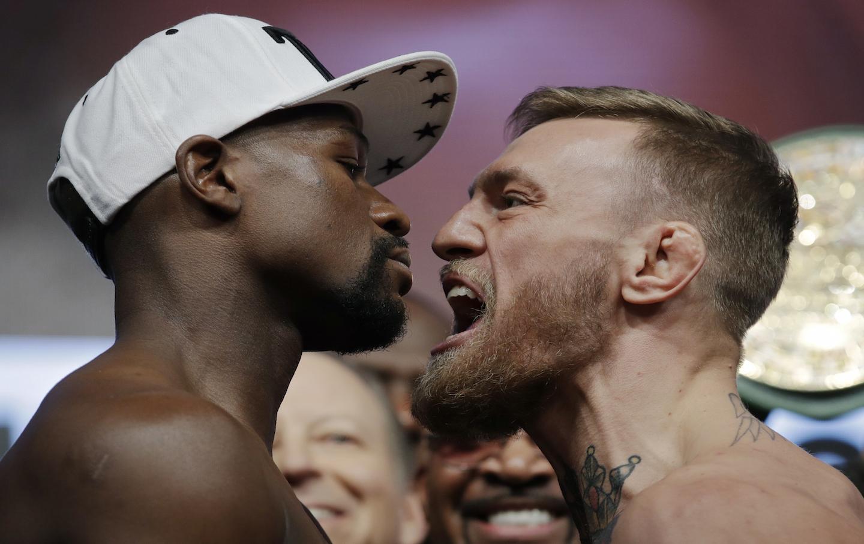 APTOPIX Mayweather McGregor Boxing