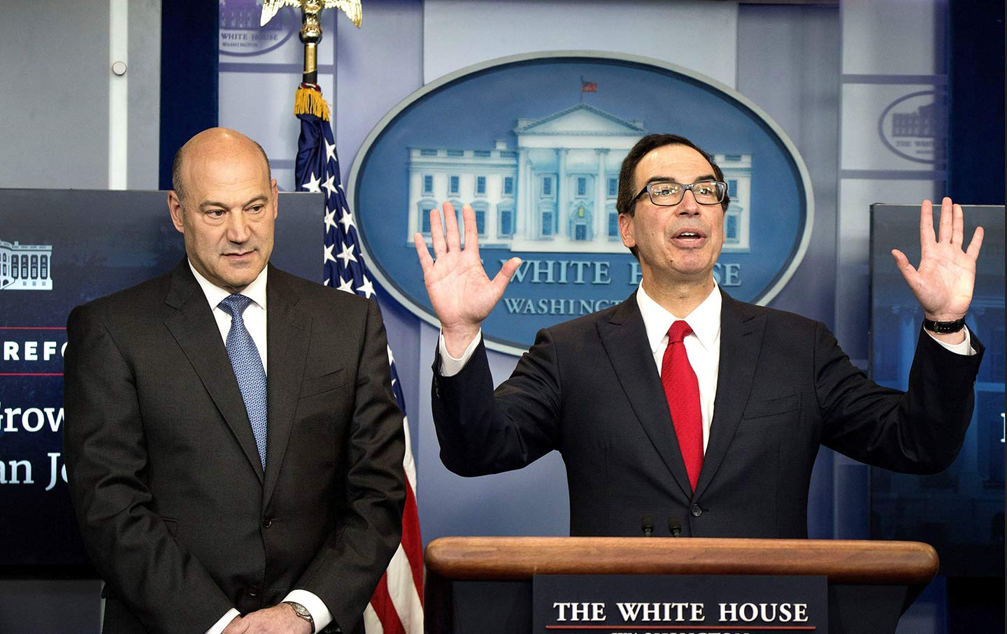 Mnuchin and Cohn in DC