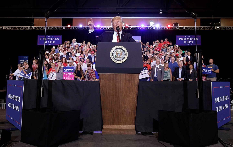 Trump at his Phoenix Rally