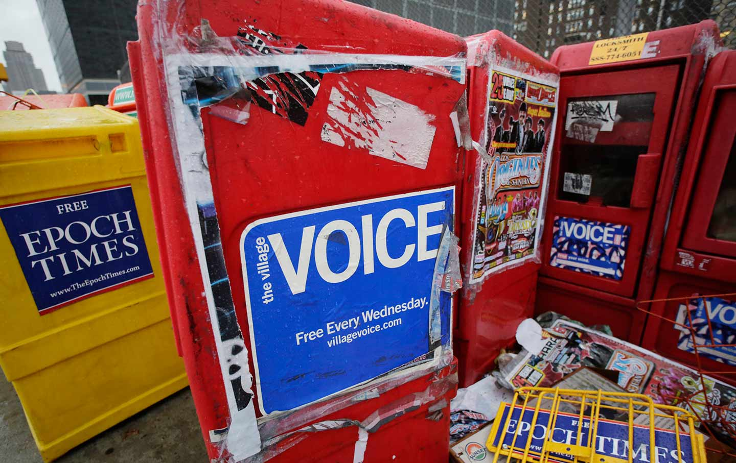 Village Voice Distribution Box