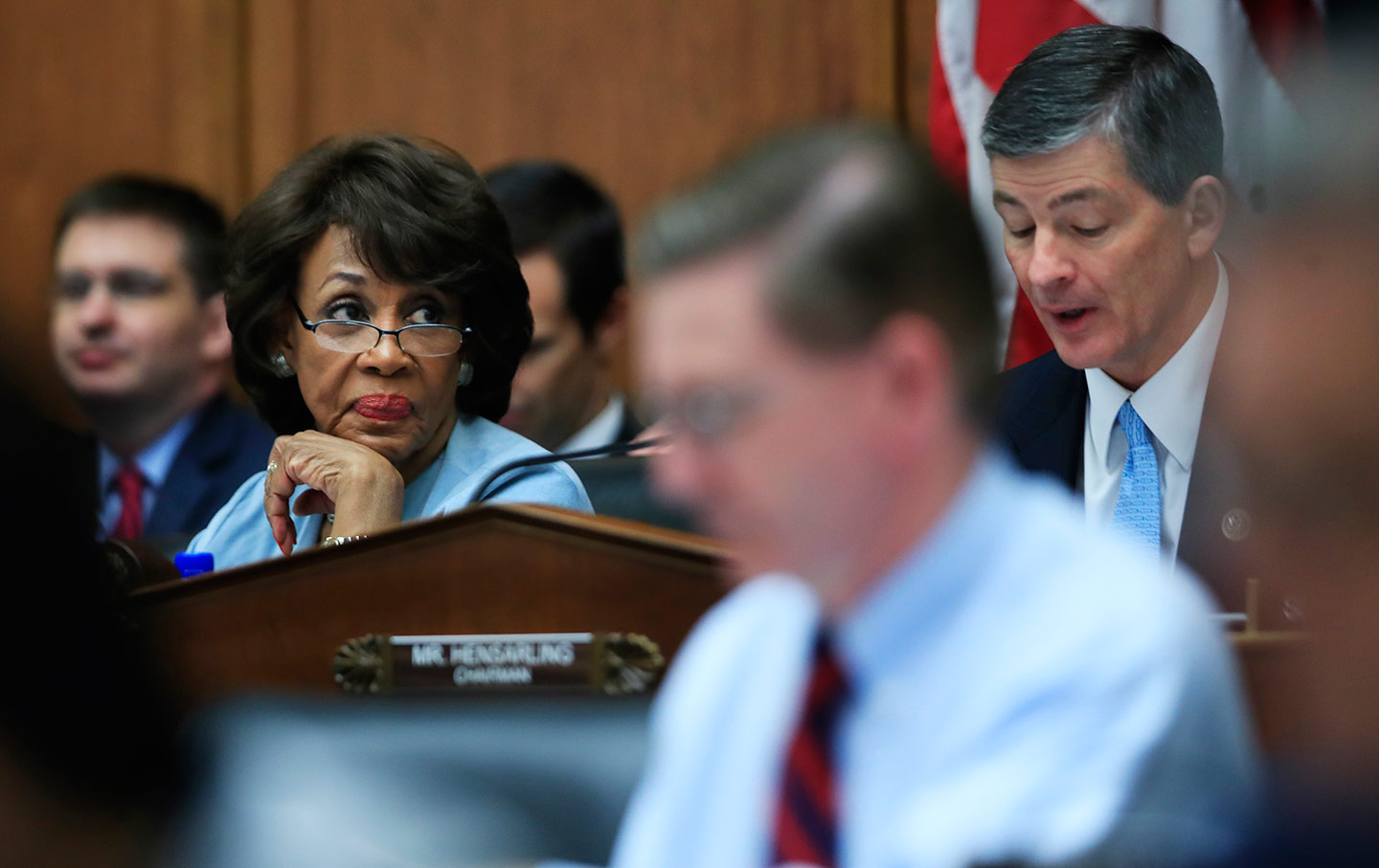 Maxine Waters in a Congressional Hearing