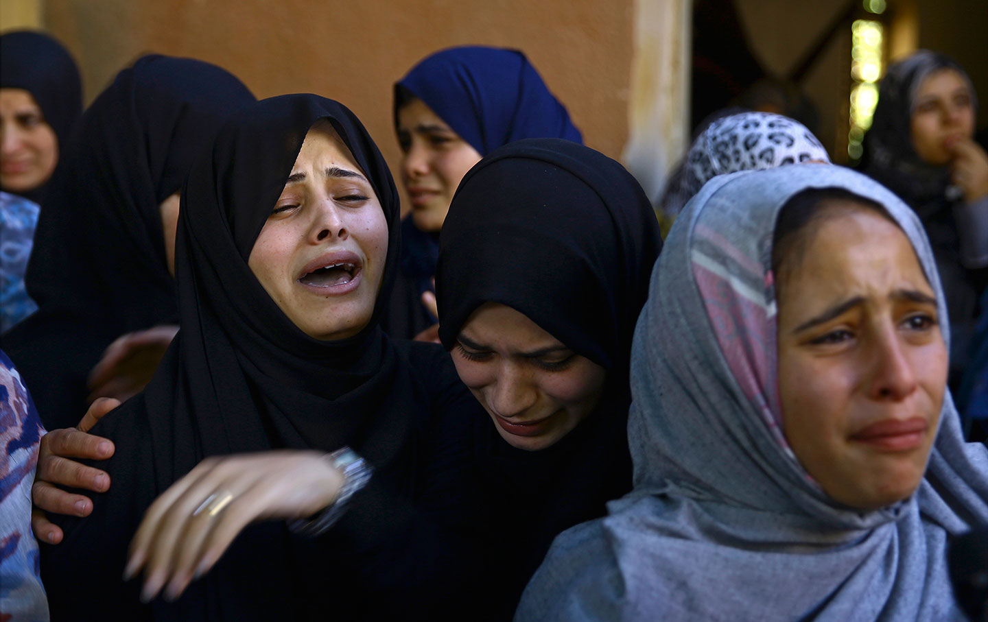 Palestinian Family in Mourning