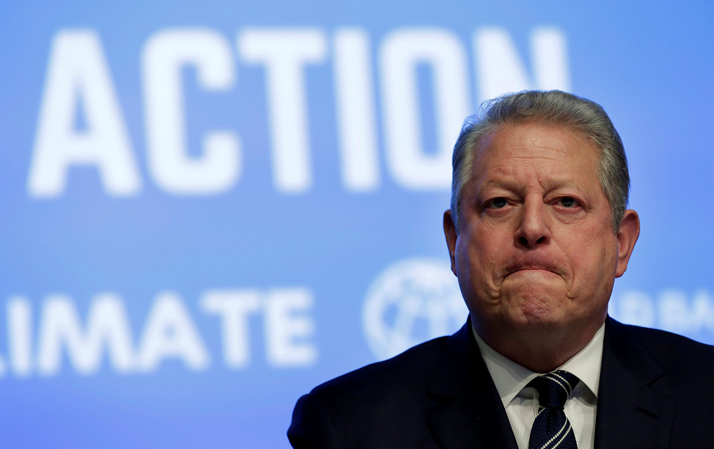 Al Gore attends a climate action session