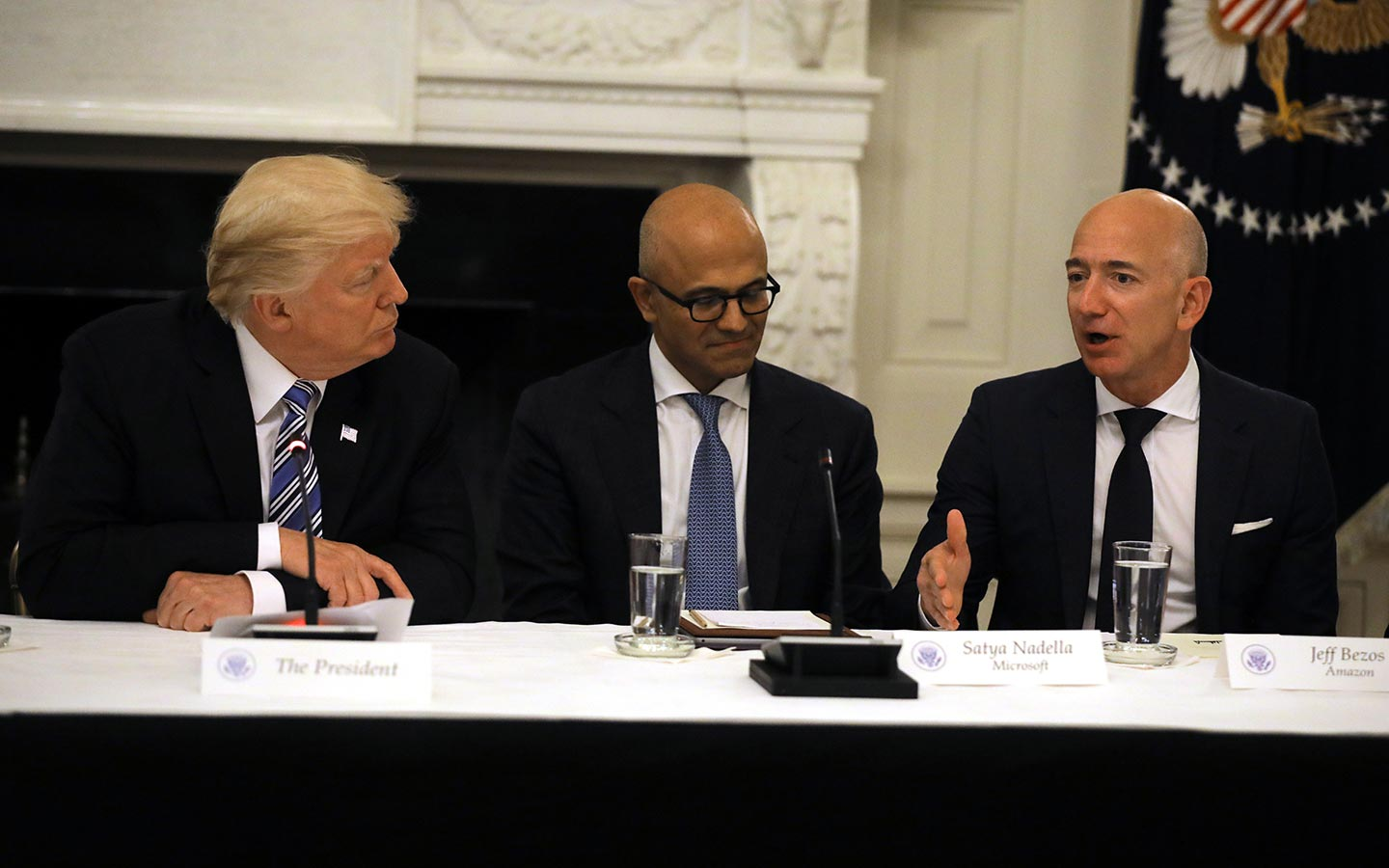 Trump Bezos Amazon