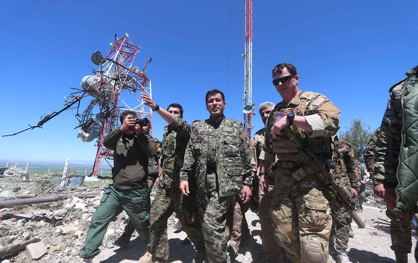 US and YPG Military