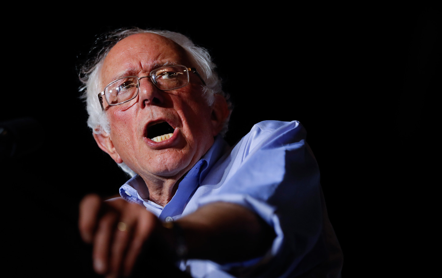 Sanders Scare-Quotes 'Enemy' in Describing Soviet Union During Foreign Policy Speech