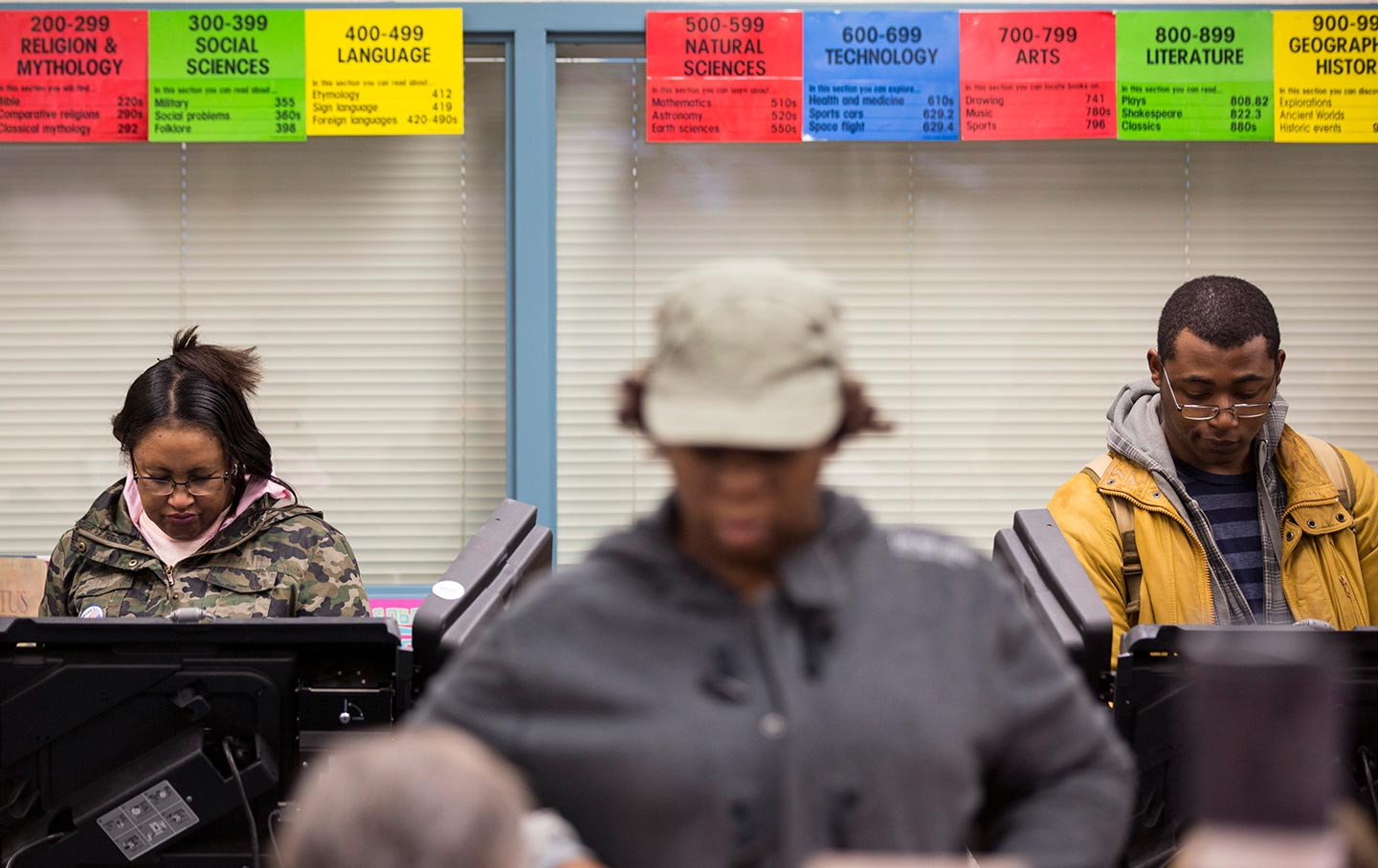 Black Voters Casting Ballots
