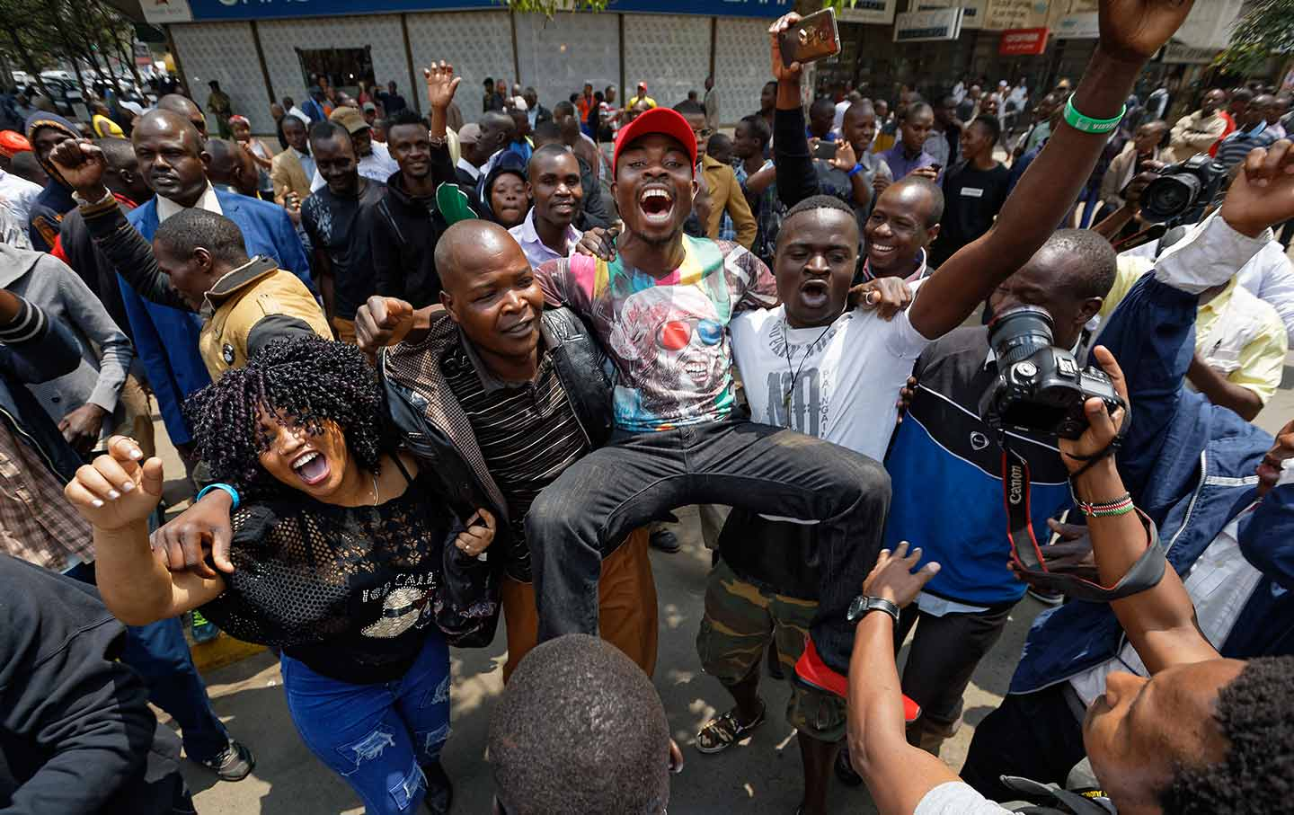 Raila Odinga Supporters Celebrate