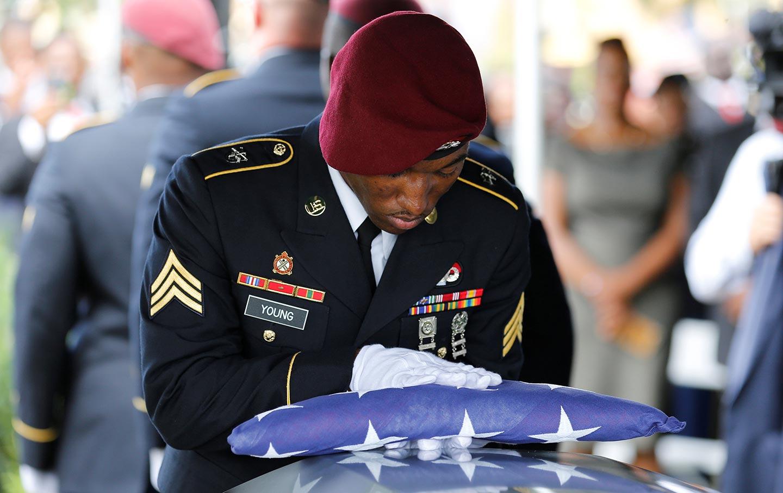 Army Sergeant La David Johnson's Coffin