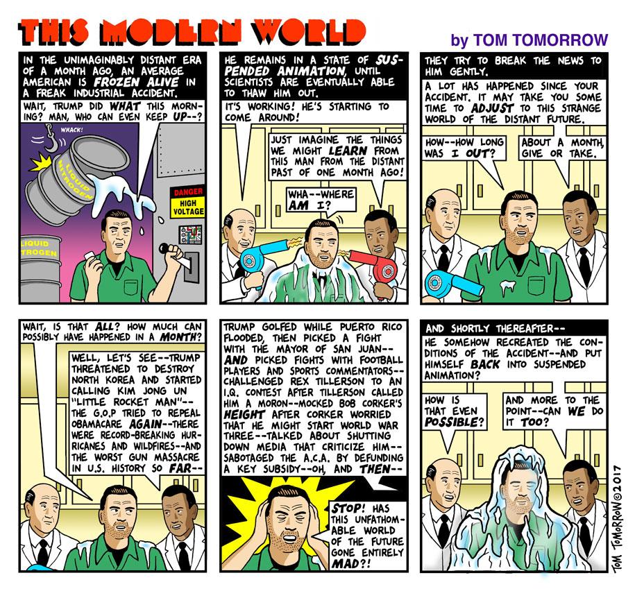 Tom Tomorrow Cartoon for October 18, 2017.