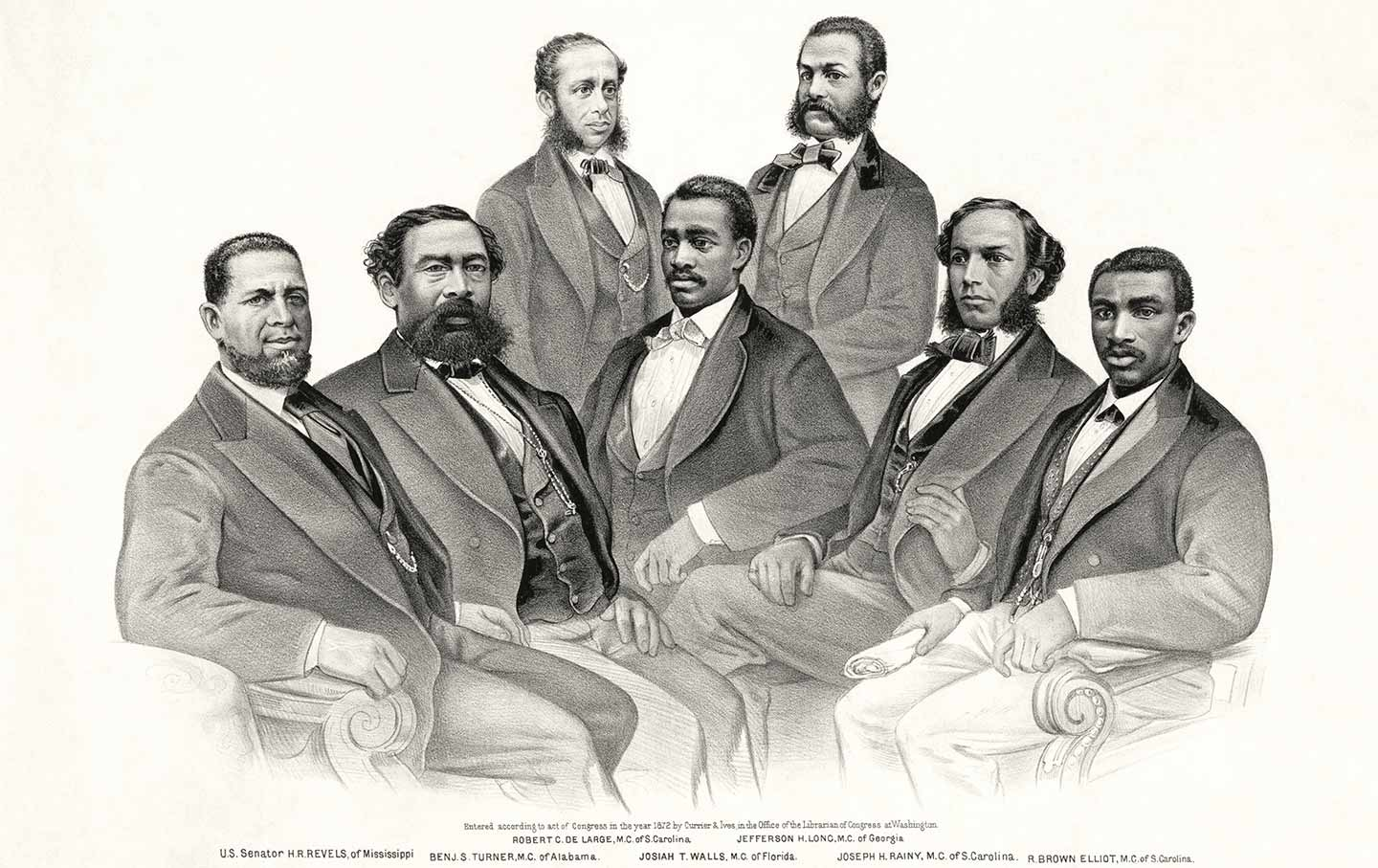 First black Senator and representatives