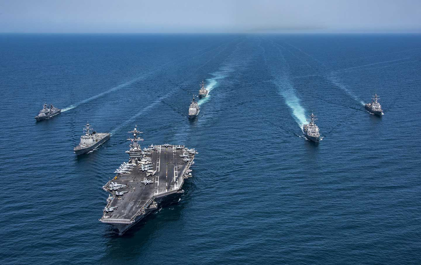 US and South Korean ships