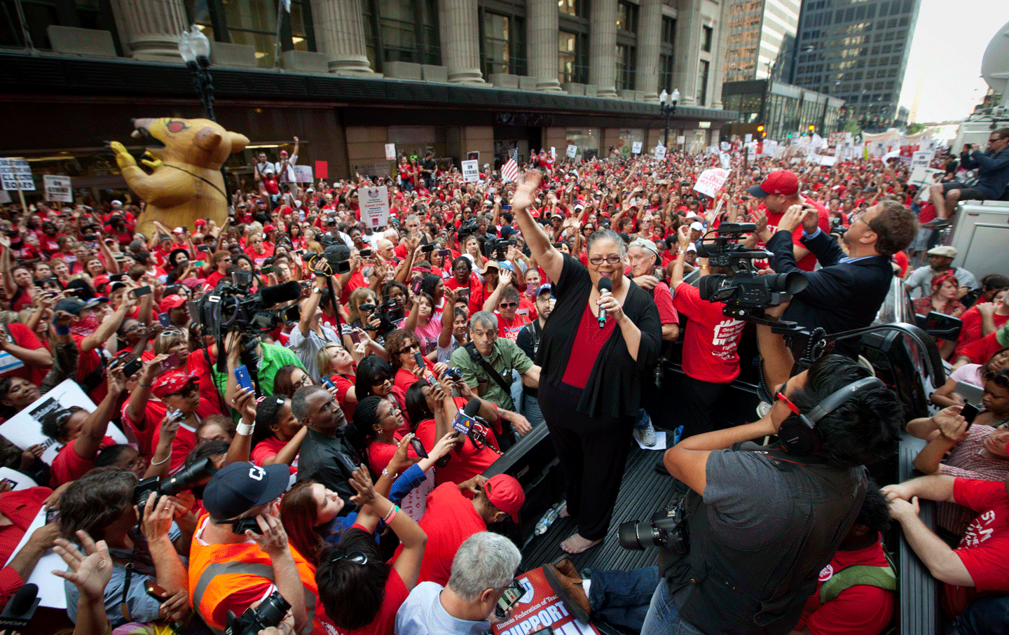 Chicago Teachers Union President Karen Lewis