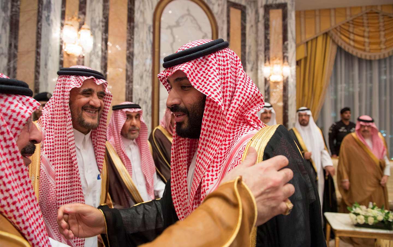 Saudi Arabias Crown Prince Mohammed Bin Salman Speaks With Members Of The Royal Family In Mecca Arabia On June 21 2017 Court Via