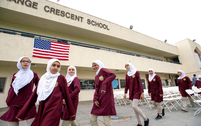 Muslim students high school
