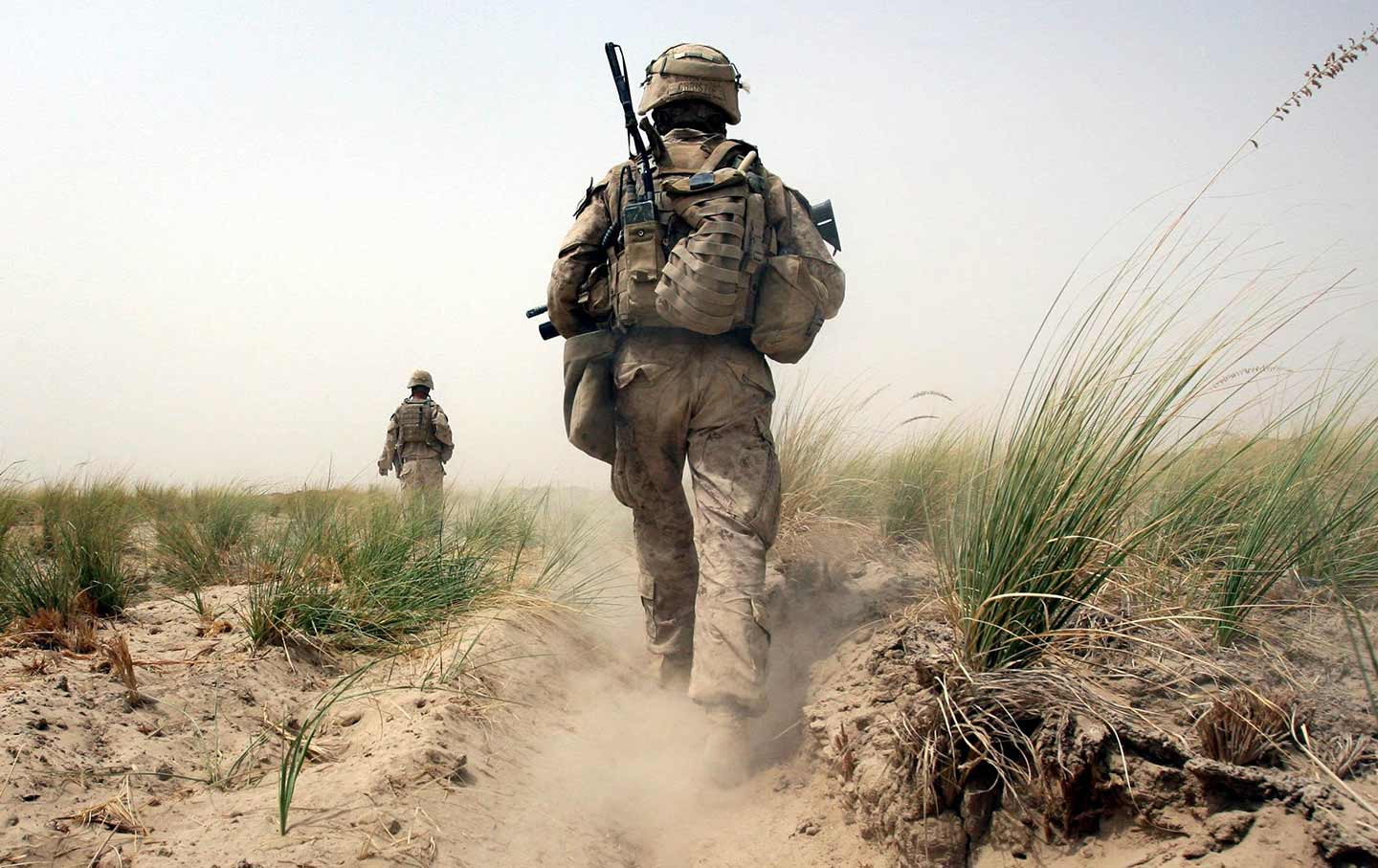 Marines on patrol in Afghanistan