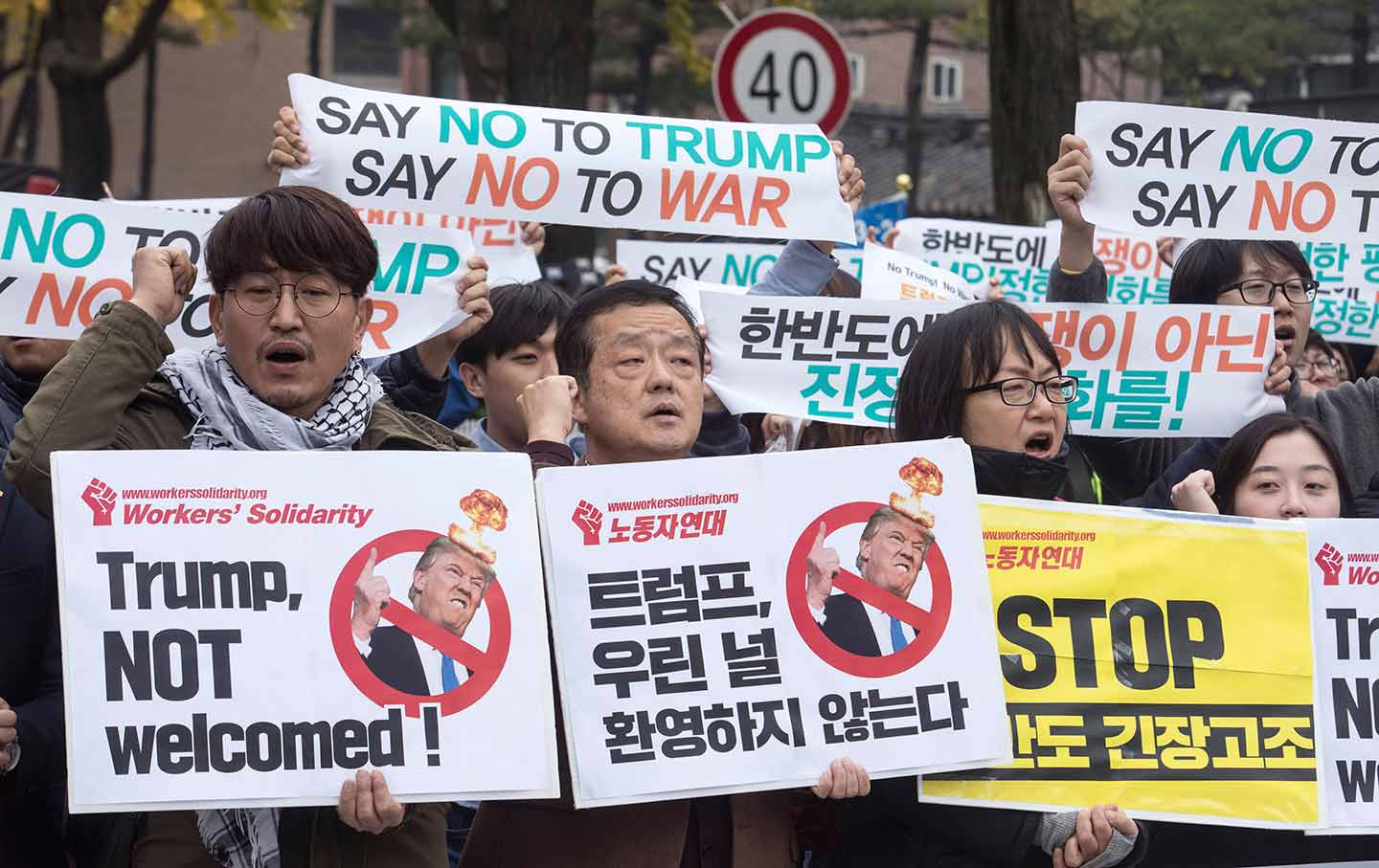 South Korea Trump Protest