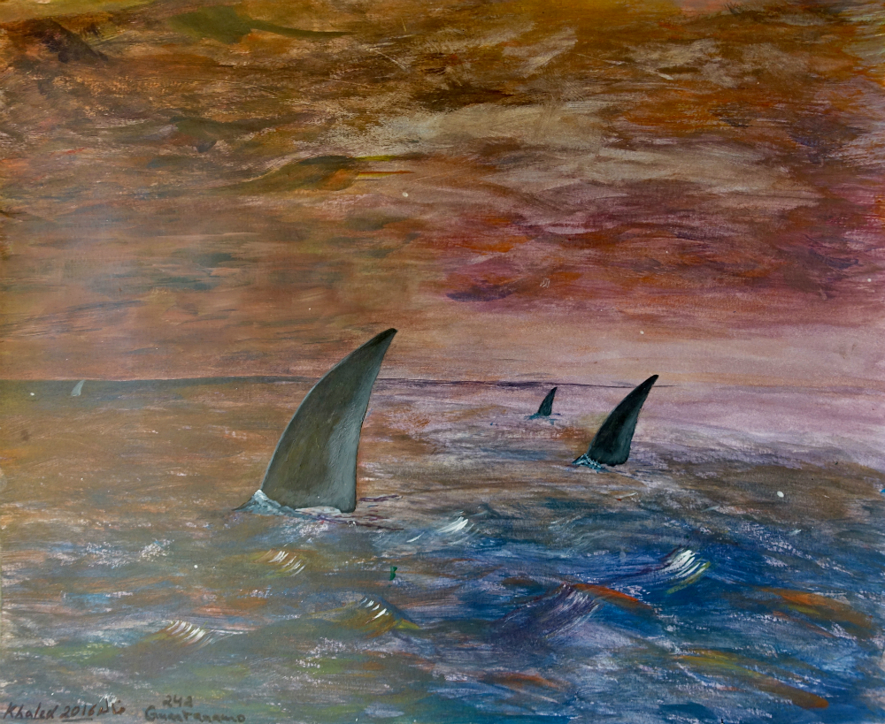 Untitled (Fins in the Ocean)