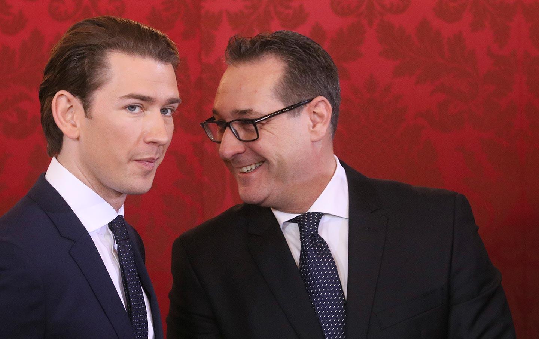 Sebastian Kurz and Heinz-Christian Strache
