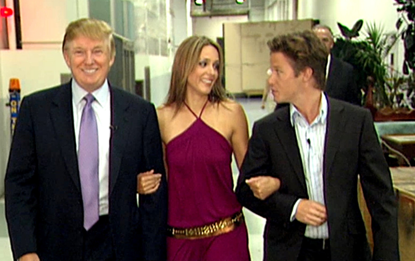 Donald Trump and Billy Bush on the set of Access Hollywood
