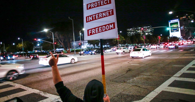 Net Neutrality protester