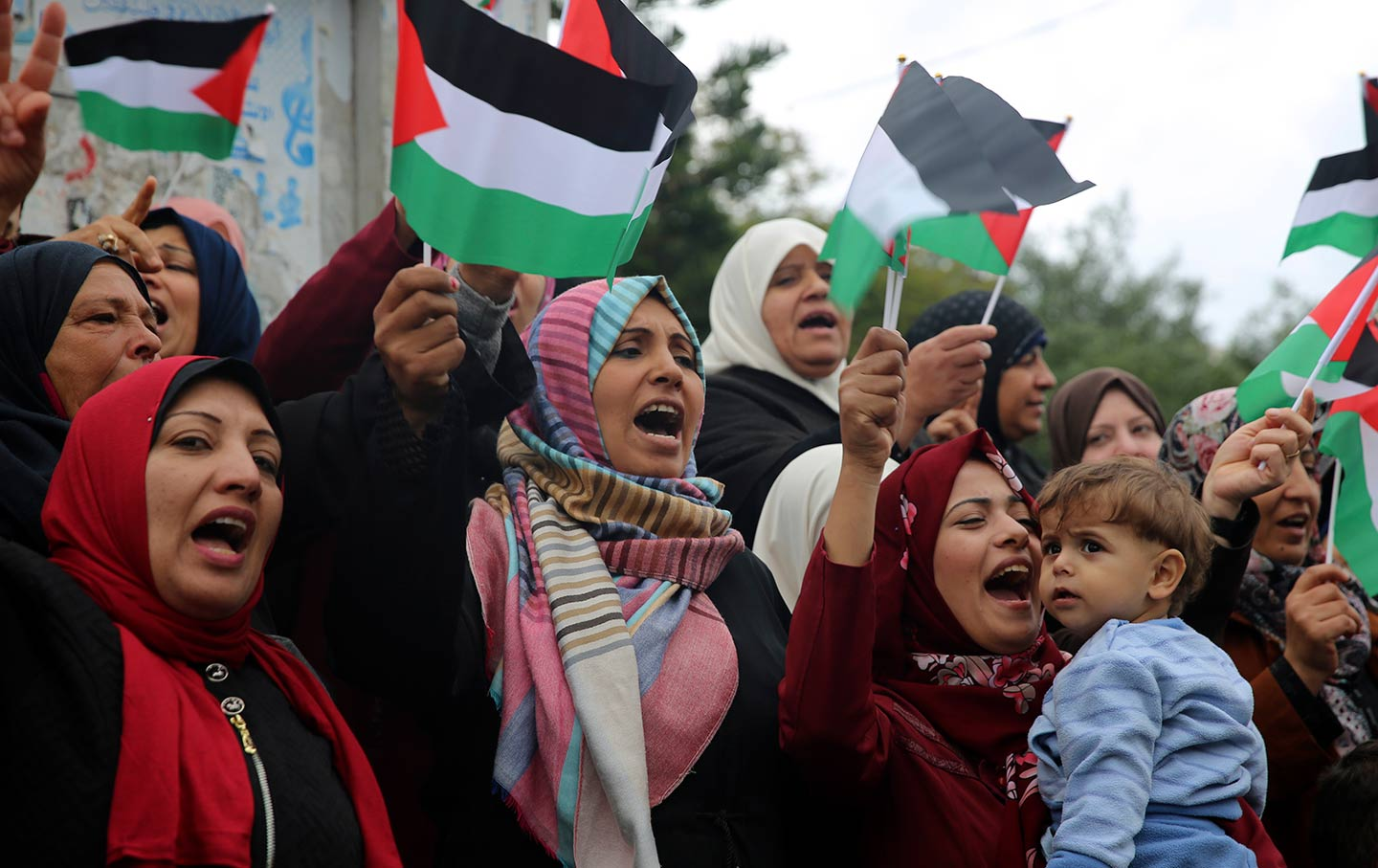 Palestinian Women Protesting