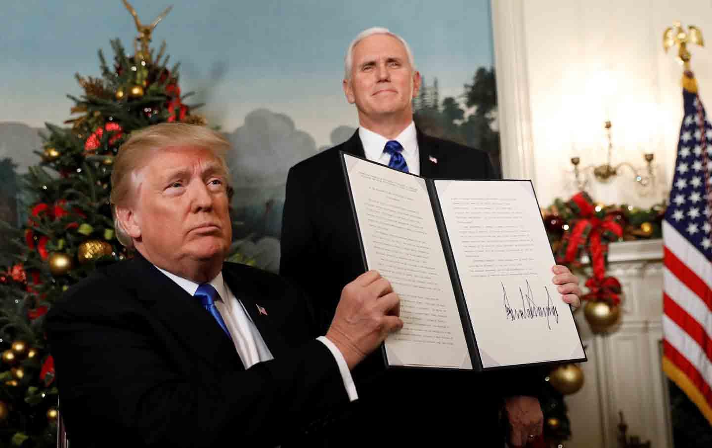 Trump Jerusalem signing