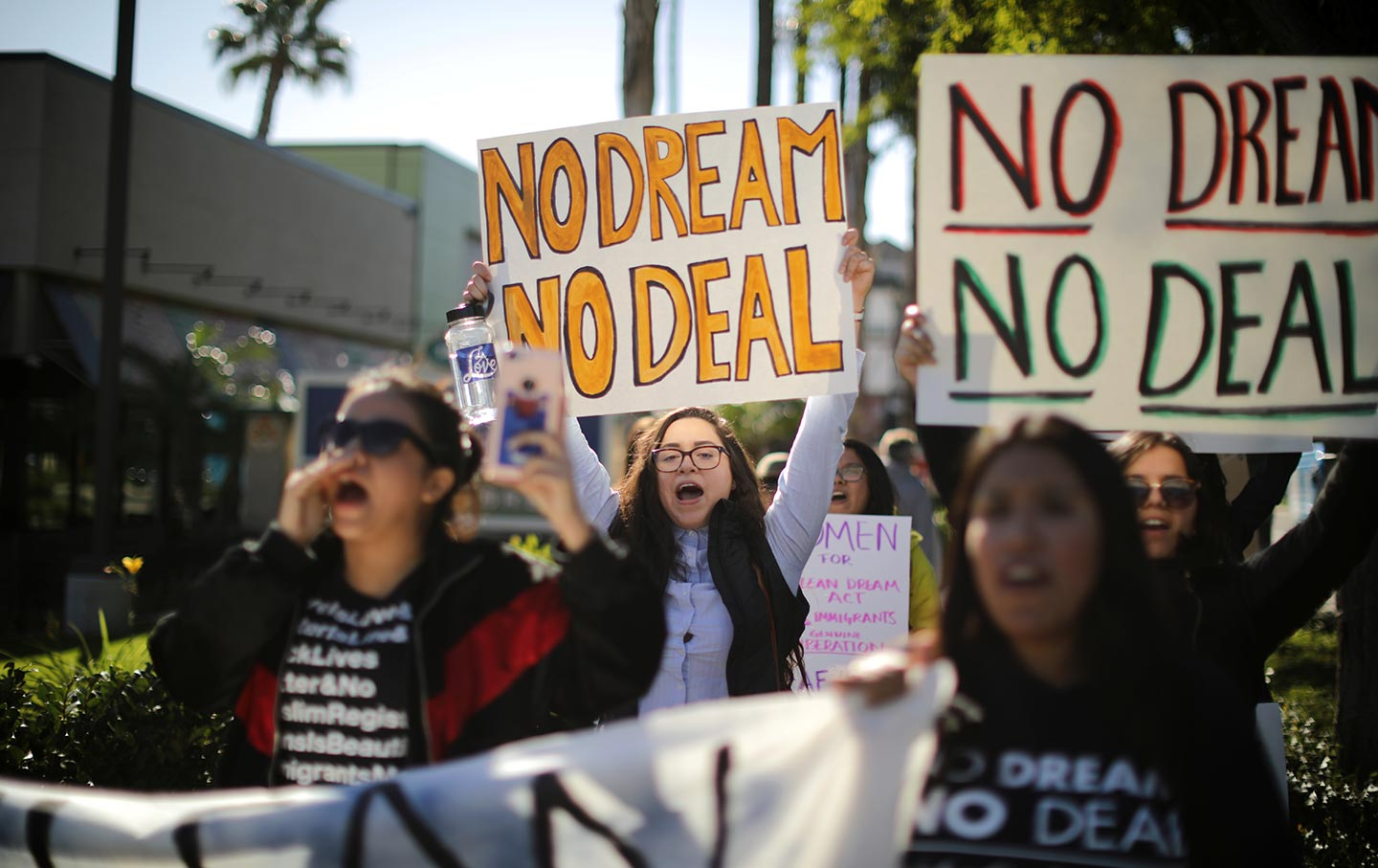 DACA Protest No Dream No Deal