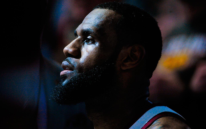 LeBron James at Utah Jazz