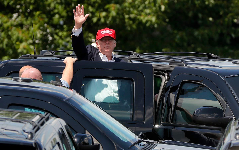 Trump in a Car MAGA