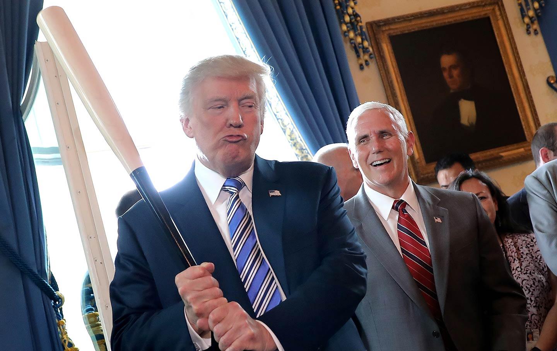 Donald Trump Holding a Baseball Bat