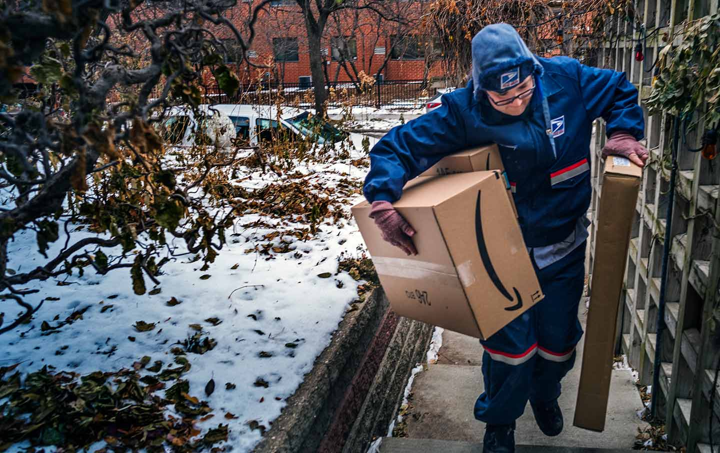 7d1e167cad2 United States Postal Service worker Missie Kittok delivers packages in  Minneapolis