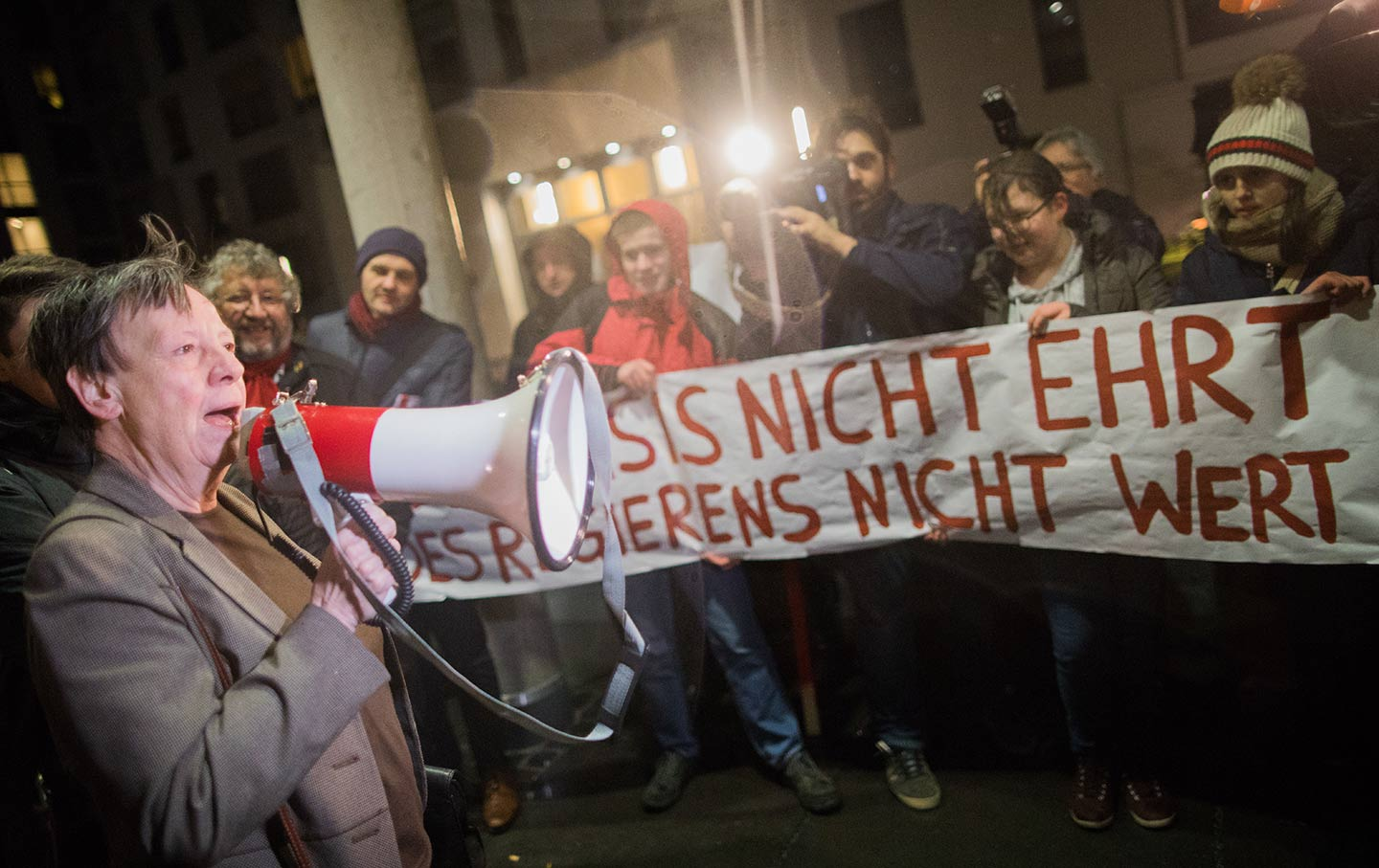 SDP protest Germany