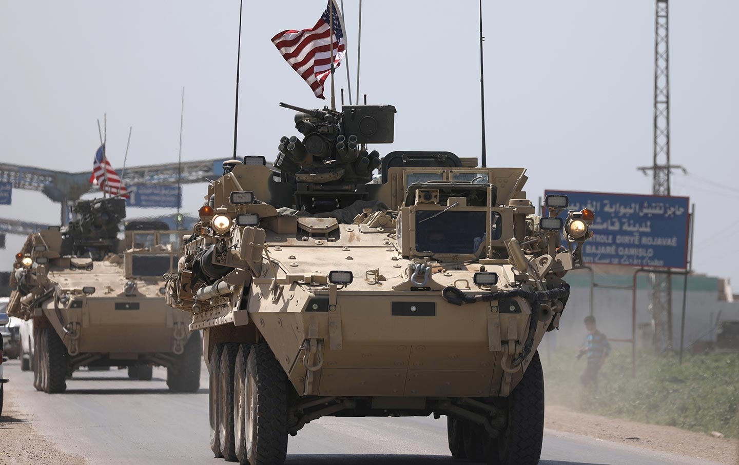US military in Qamishli, Syria