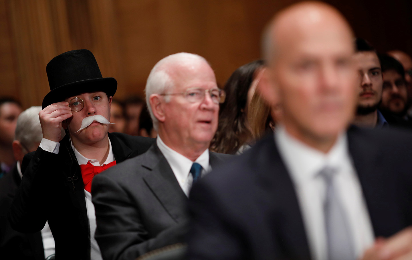 Monopoly Man at Equifax hearing