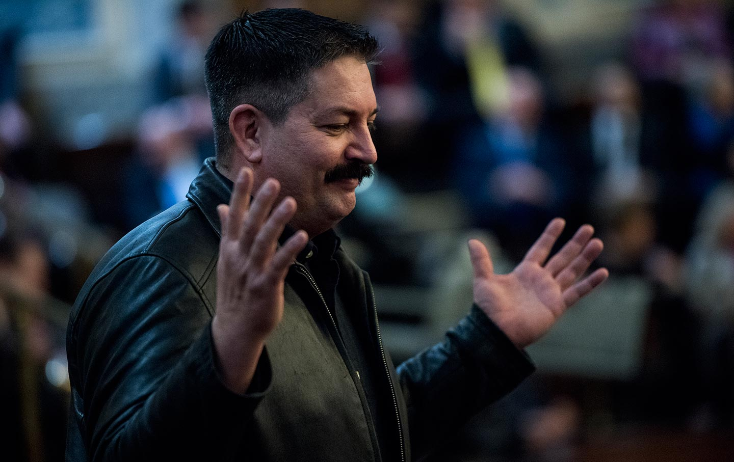 Randy Bryce at the State of the Union address on January 30, 2018. (AP  Photo / Bill Clark)
