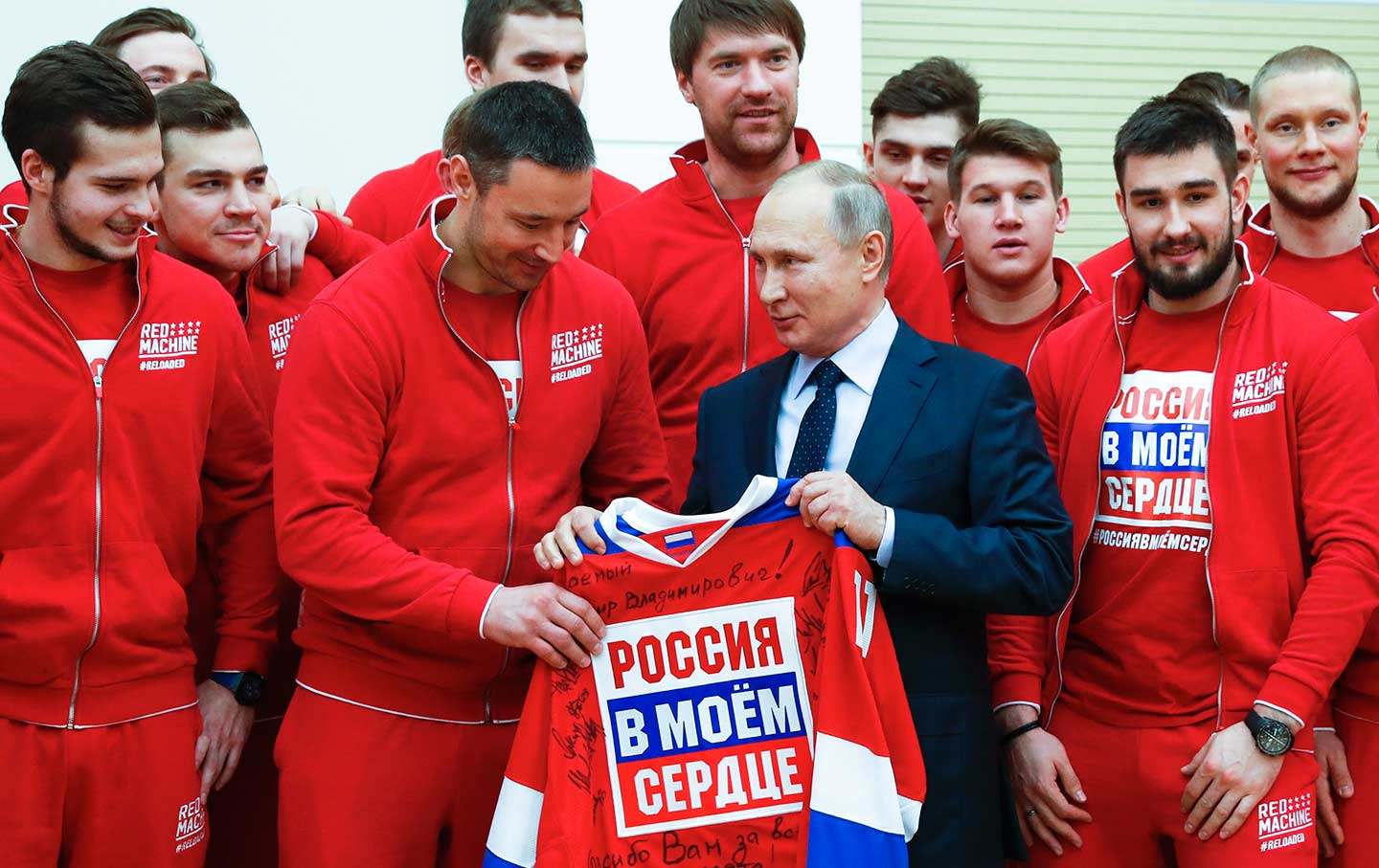 Putin Russian Ice Hockey Team