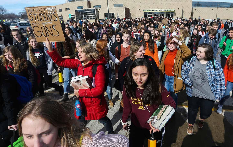 student gun walkout