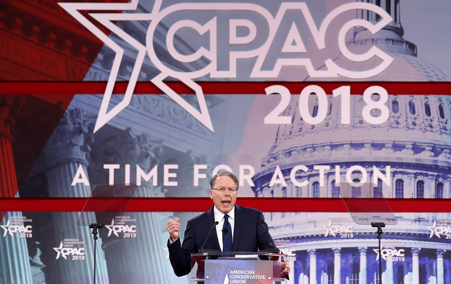 NRA head Wayne LaPierre speaks at CPAC 2018
