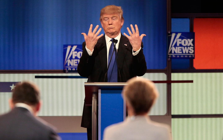 Trump Fox News Hands