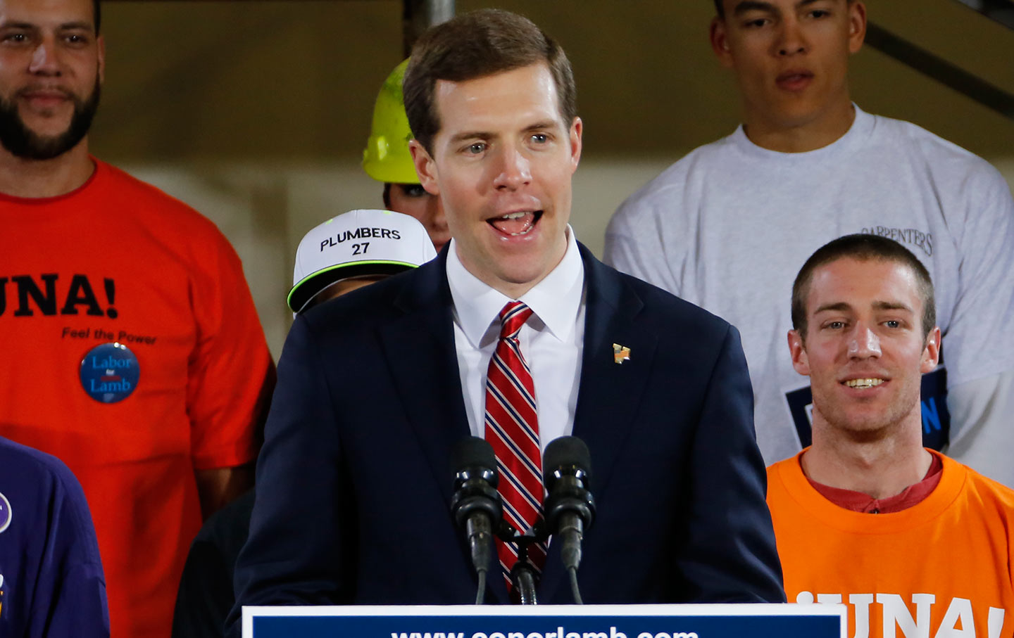 Conor Lamb campaigning in Pennsylvannia, 2018