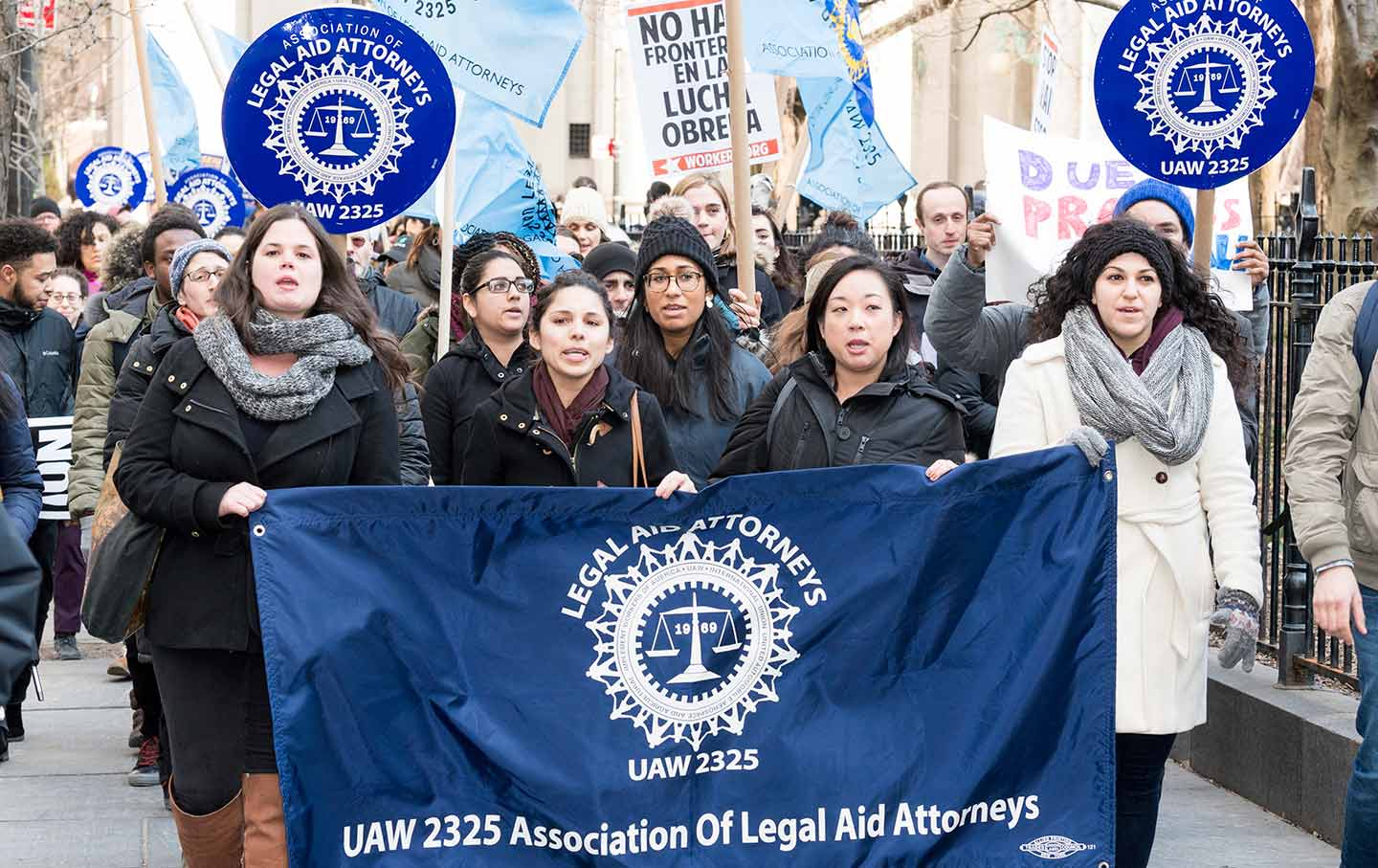 Legal Aid rally against ICE