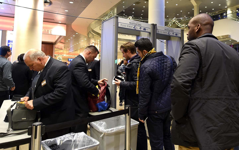 security officials screen fans entering madison square garden for a new york knicks basketball game november 2015 ap photo kathy kmonicek - Madison Square Garden Internship
