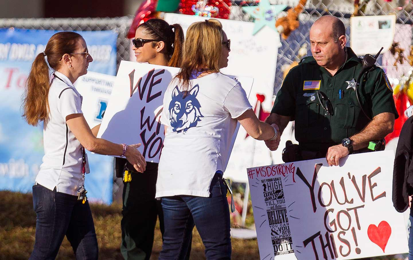Teachers return to Marjory Stoneman Douglas High School