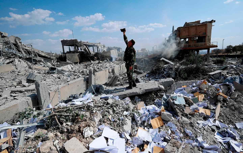 Syrian soldier US airstrike