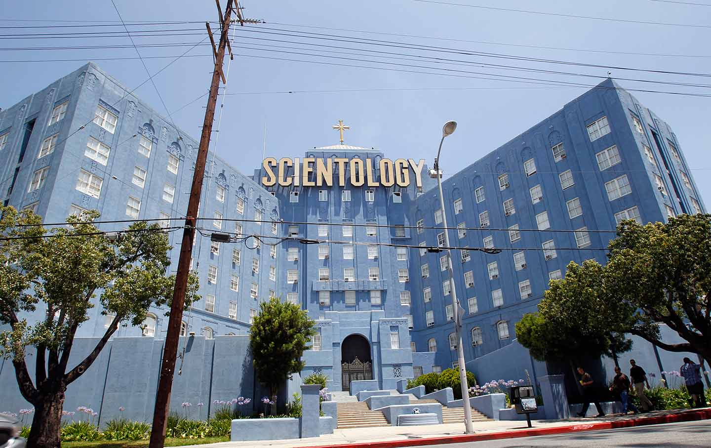 Blue Scientology building LA