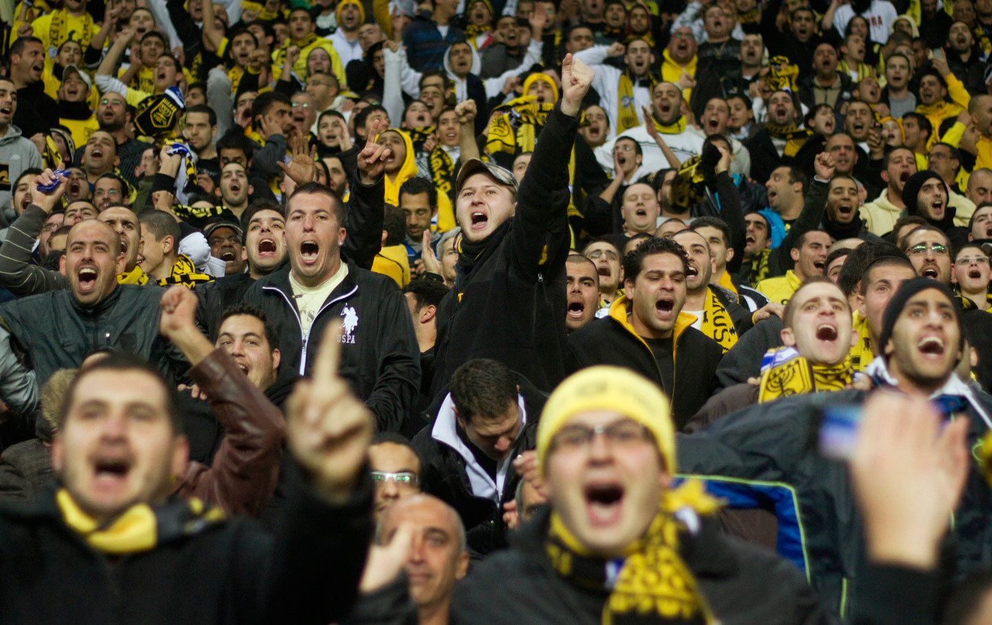 Beitar Jerusalem fans cheer