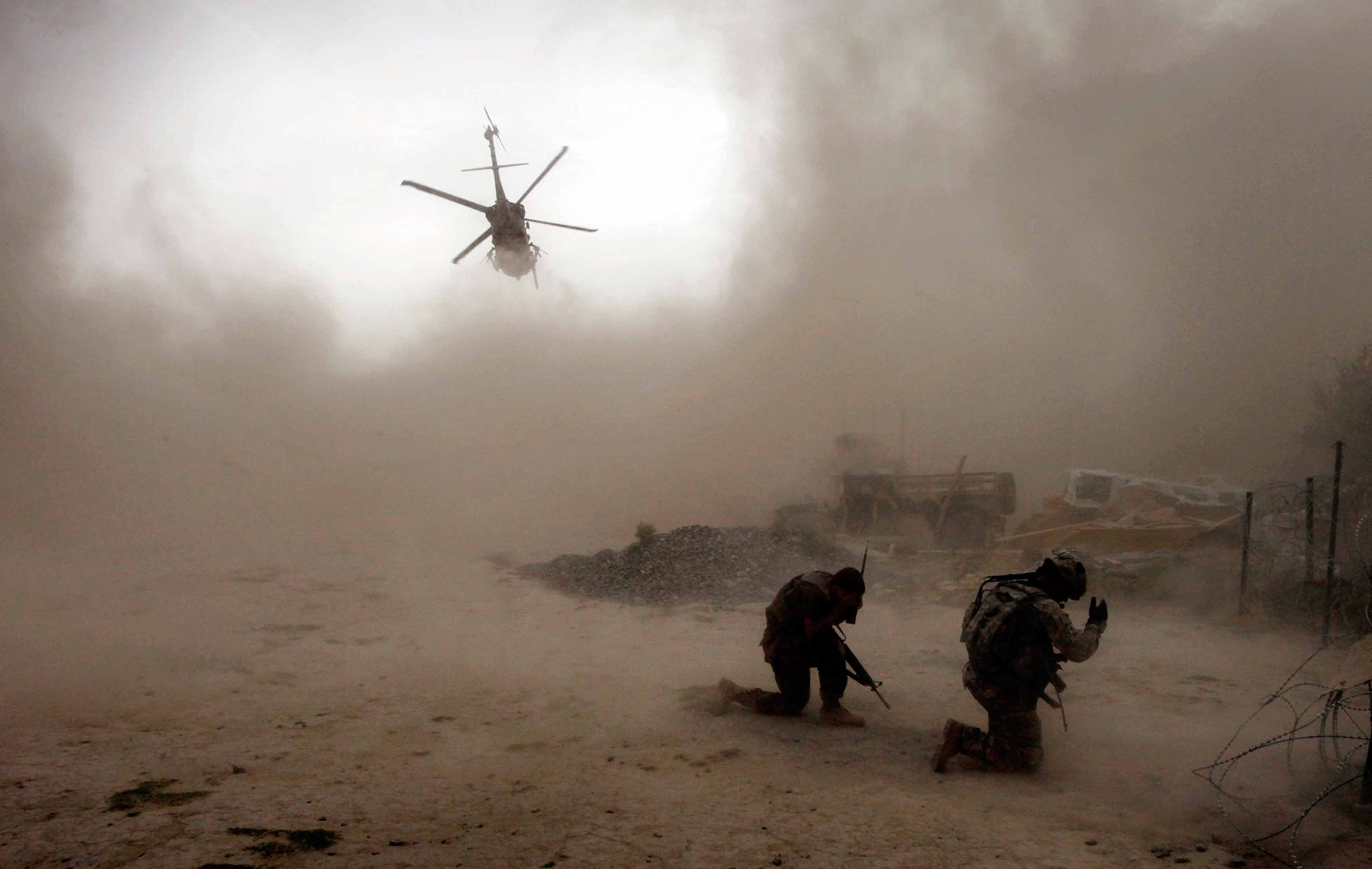 Afghanistan helicopter takes off